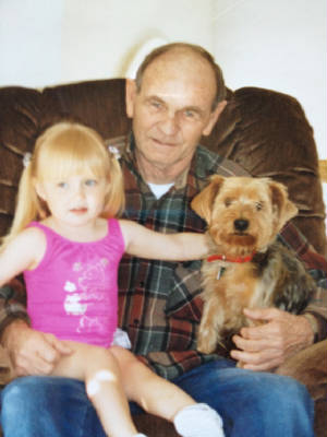 Charles Thompson with granddaughter, 1998.