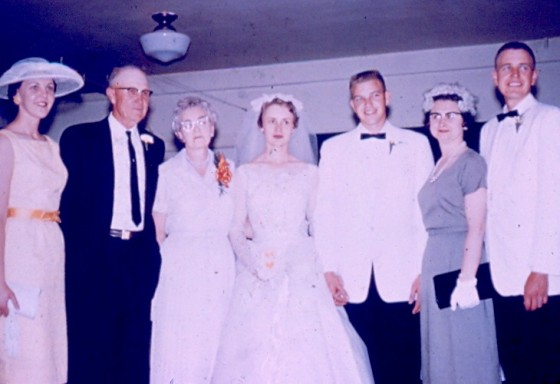 Dale Miksch's wedding, 1960.