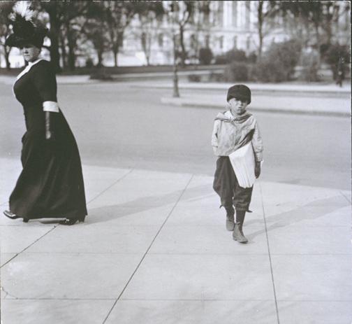 Dante Mercurio, 8 years old, Washington, DC, April 11, 1912. Photo by Lewis Hine.