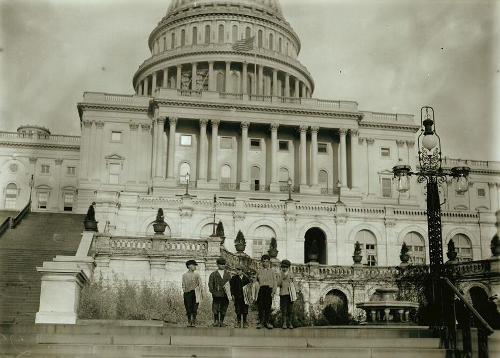 Dante Mercurio (left), Washington, DC, April 11, 1912. Photo by Lewis Hine.
