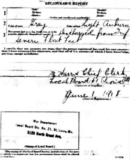 1918 draft registration.