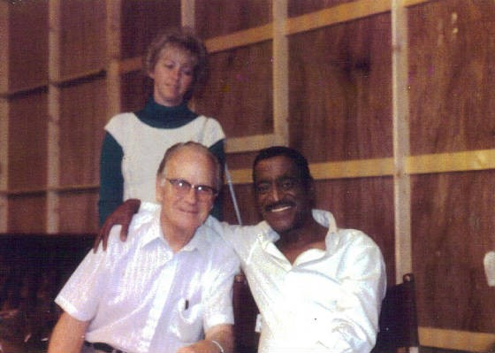 Edward Capps Jr., Sammy Davis Jr., and Barbara Toro, 1984.