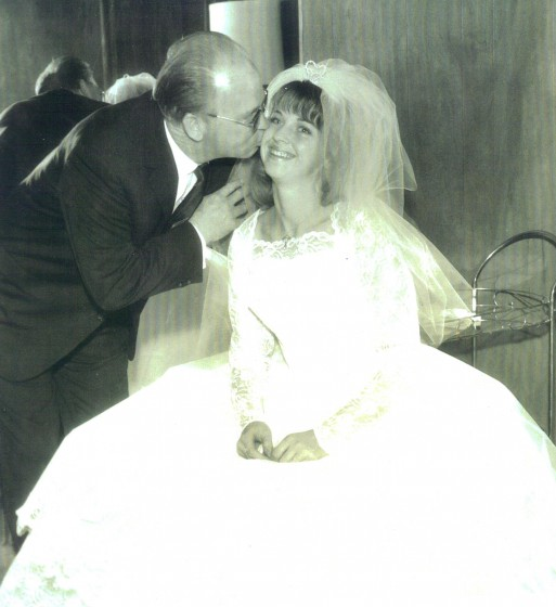 Edward Capps Jr. and daughter Barbara (Bobbi) Toro, at her wedding in 1963.