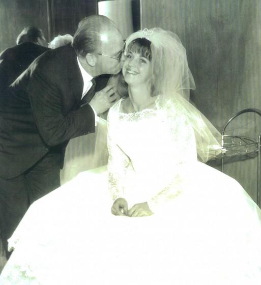 Edward Capps Jr. and daughter Barbara (Bobbi) Toro, at her wedding in 1963.