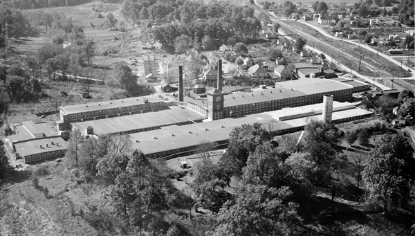 Eno Cotton Mill and village, 1940s. Original source of photo is undetermined.