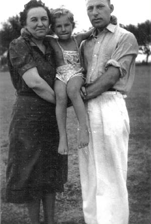 Sam and Fanita Stillman, with son Damie, 1936. Photo provided by family.