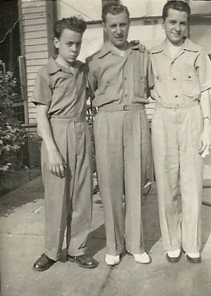 Anthony Martina with sons Jim (left) and Robert, on Father's Day 1940.