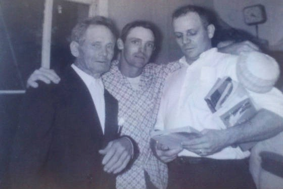 (L-R): George Blizzard Sr., and sons George Jr. and Carl.