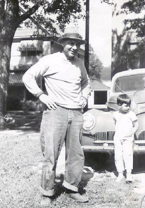 Guido Centola with son Raymond, about 1948.