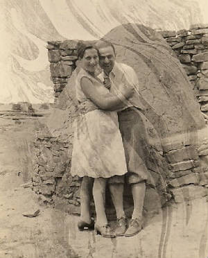 Guido and Sarah Centola (pregnant with first child Guido) in New Mexico, 1930.