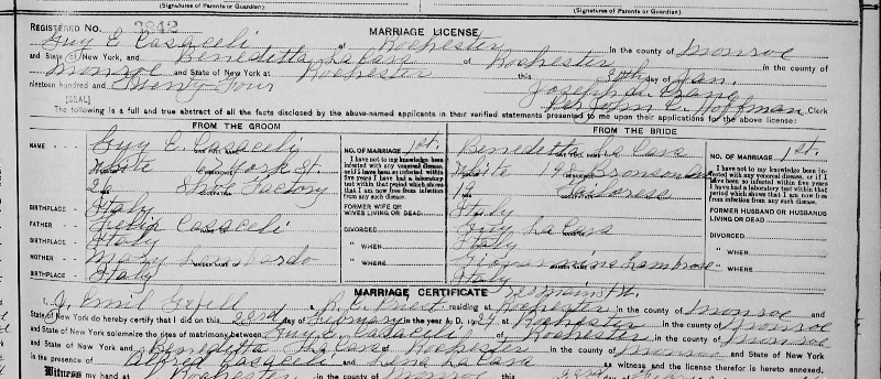 Guy's marriage certificate.