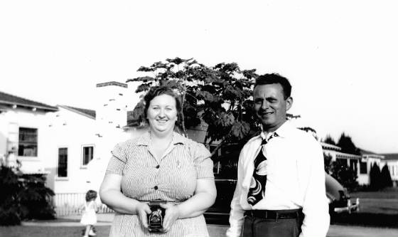 Joseph and Katherine Bishop, about 1947.