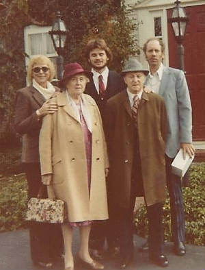 Anthony and Sylvia Martina, with daughter June, grandson Bill Reynolds, and June's husband Goodwin, 1977.