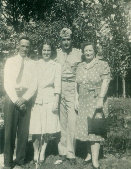 Lazaro and Bertha Boney, with daughter Marie and her husband, James Carter.