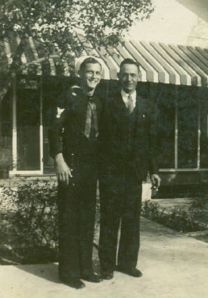 Lazaro Boney and son Elwood, who was James Boney's father, 1946.