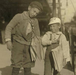 Morris (left) & Louis Shuman, 1913. Photo by Lewis Hine.