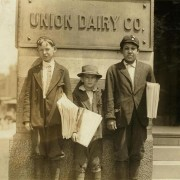 Owen McCormack, Marvin Adams & Unidentified Newsboy, St. Louis, Missouri