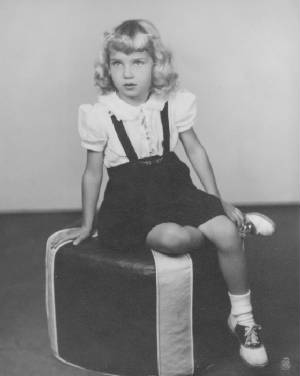 Mary Agnes DeChriste (now Taylor, and interviewed below ), daughter of Rose Berdych, 1946, age 5.