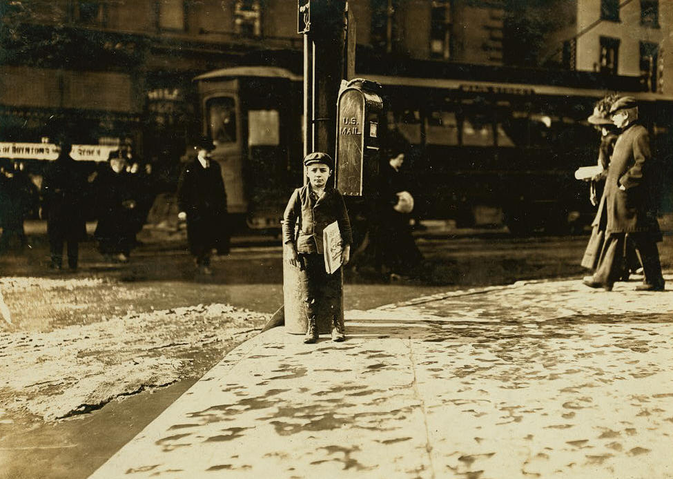 Matthew Stavola, Hartford, Connecticut, March 1909. Photo by Lewis Hine.
