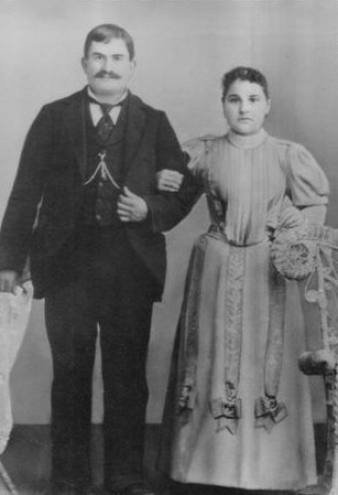 Joseph & Mary Mauro on wedding day, October 17, 1895.