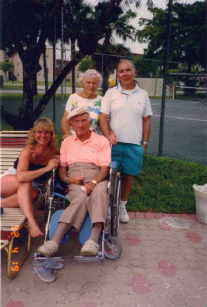 Front: Morris Levine and daughter Theresa; back: Kathryn Levine and her brother Maurice, 1992.