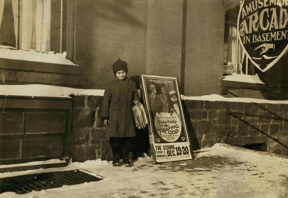 Morris Levine, Burlington, Vermont, December 17, 1916. Photo by Lewis Hine.