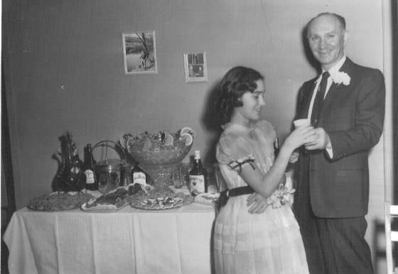 Morris Levine and daughter Theresa, 1955.
