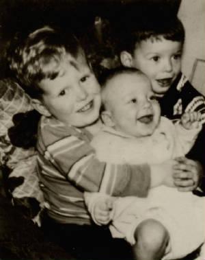 (L-R) Meyer Bishop's sons: Jack, James & Joseph, about 1933.