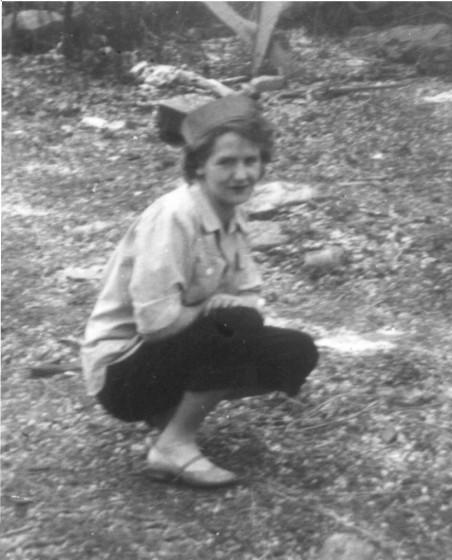 Nellie Blizzard, 1953, age 19.