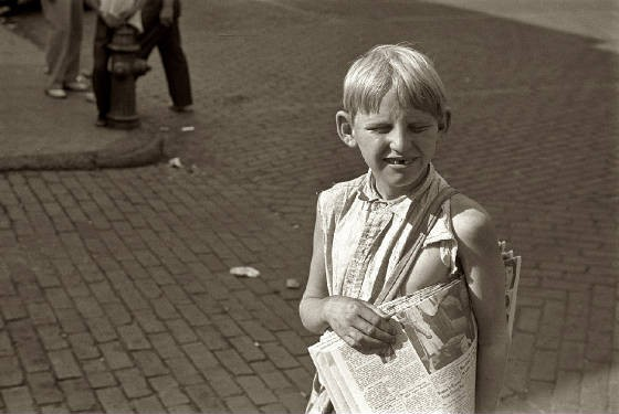 Richard Wolverton, Newark, Ohio, Summer 1938. Photo by Ben Shahn.