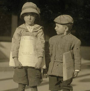 Odell McDuffey and Sam Stillman, 1913. Photo by Lewis Hine.