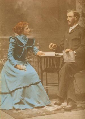 Odell's parents: John Collins McDuffey & Stella McDuffey, date unk. Photo provided by family.