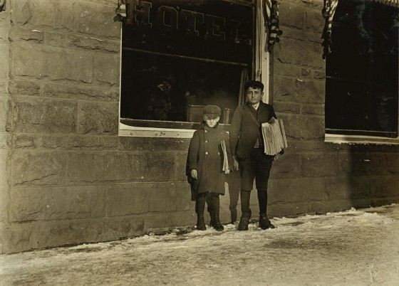 Paul (left), 8 yrs old & Anthony Zazzaro, 13 yrs old, Hartford, CT, March 1909