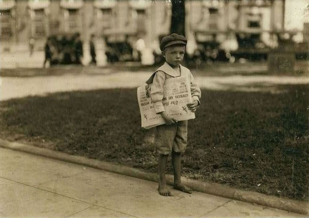 Phares Beville, 7 years old, Mobile, Alabama, Oct. 22, 1914. Photo by Lewis Hine.