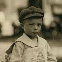 Phares Beville, 7 years old, Lewis Hine.