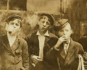 Raymond Klose (center), 1910. Photo by Lewis Hine.