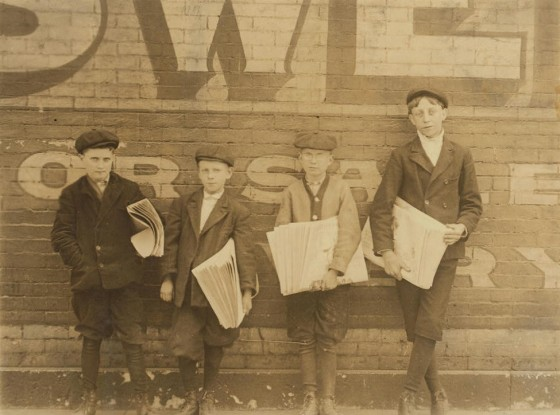 Raymond Klose (right), St. Louis, MO, May 5, 1910. Photo by Lewis Hine