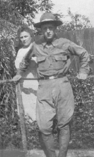 Raymond Klose with his mother, Adelinde, circa 1918.