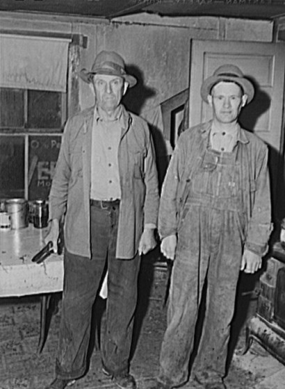 Henry Calvin Richardson (left) & probably John Baertschi, whom he was living with.