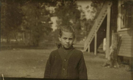 Rose Berdych, 10 years old, Bluffton, South Carolina, February 1916. Photo by Lewis Hine.
