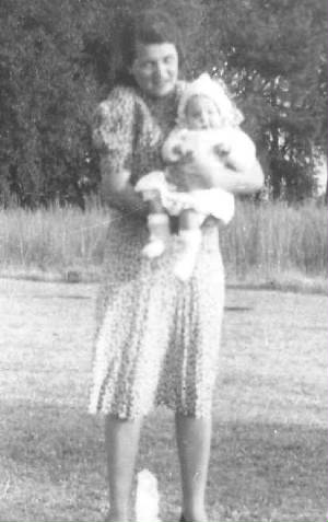 Rose Berdych DeChriste and daughter Mary Agnes, 1941.