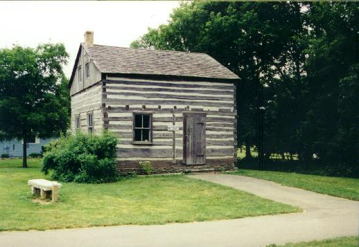 Original log house, built in 1856 by Gregor Umhoefer, Hugo's grandfather. Now located at Old Falls Village, a museum in Menomonee Falls. Photo courtesy of the Menomonee Falls Historical Society.