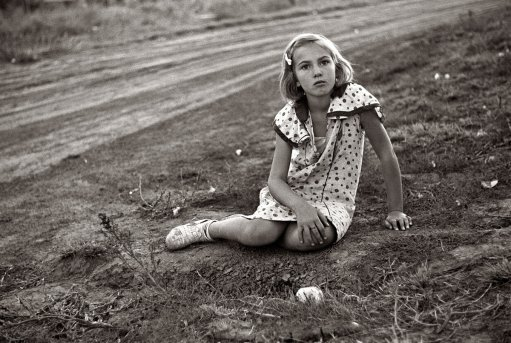 Farm girl, Seward County, Nebraska, 1938. Photo by John Vachon.
