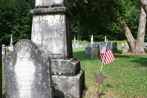 A. B. Cone gravestone, Woodlands Cemetery, Cambridge, NY, 2007