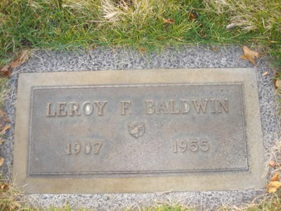 LeroyBaldwinGravestone
