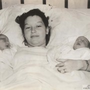 Maxine Woods And Her Twin Boys, Wichita, Kansas