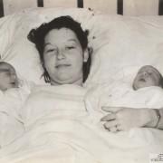 Maxine Woods And Her Twin Boys, Wichita, Kansas