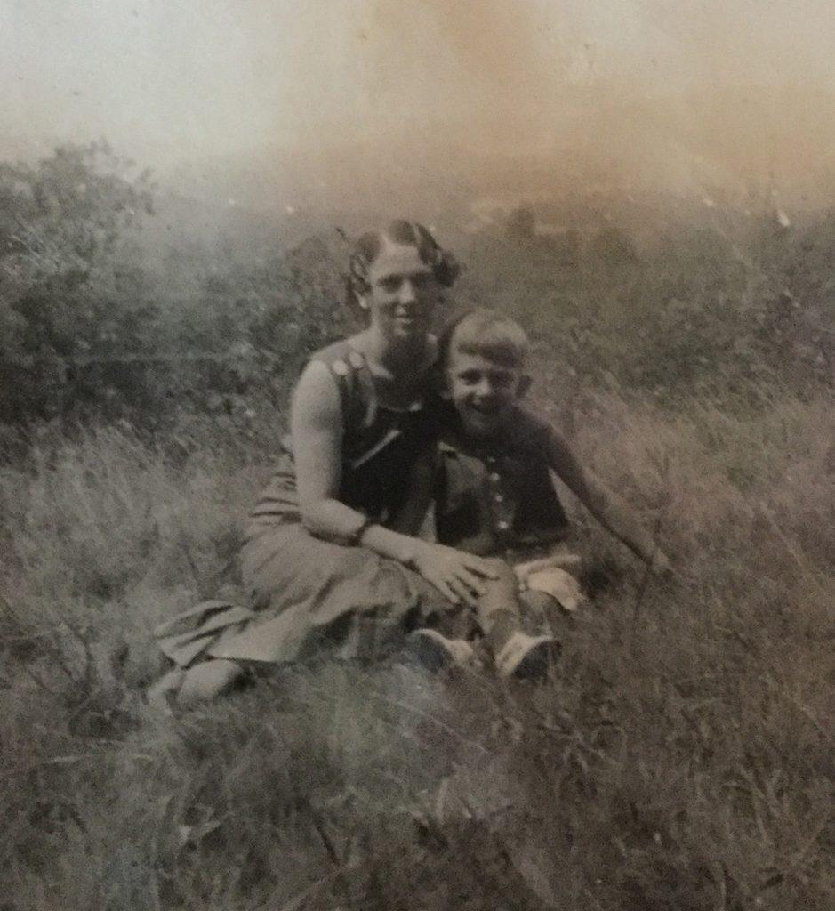 Sadie and son Robert, 1938.