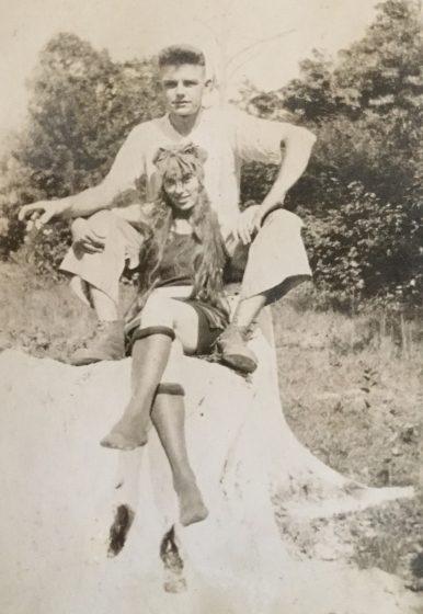 Sadie Kelly and husband-to-be George Dillman, circa 1922.